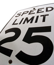 Speed limit at your driving test