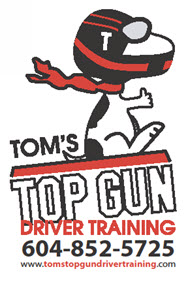 Tom's Top Gun Driver Training logo