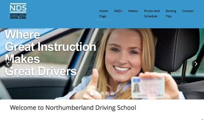 Northumberland Driving School logo